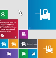 Forklift icon sign buttons modern interface vector
