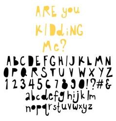 Doodle alphabet vector