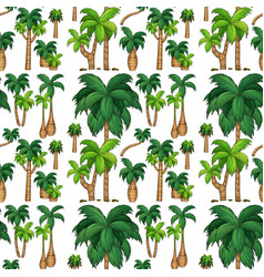 seamless background with palm trees vector image