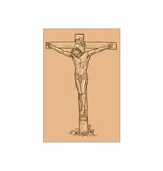 Jesus Christ hanging on the cross vector image