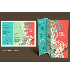 Brochure booklet z-fold layout editable design vector