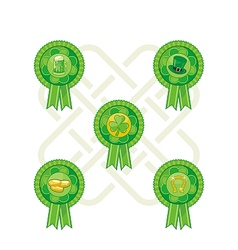 Saint patricks day badges vector