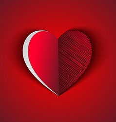 Heart shape greeting card vector