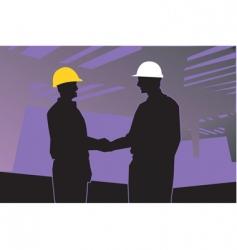 two engineers vector image