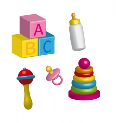 Baby toys vector