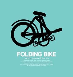 Single folding bike graphic vector