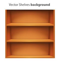 3d book shelve template vector image