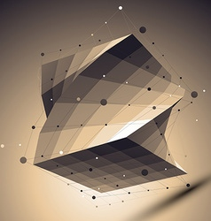 Geometric abstract 3d complicated lattice backdrop vector