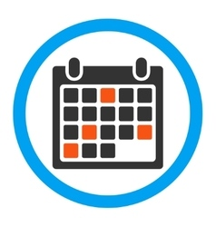 Calendar appointment rounded icon vector