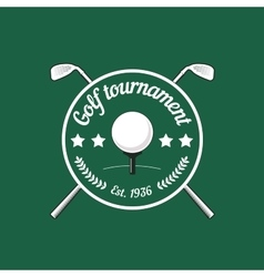 Vintage color golf championship badge vector