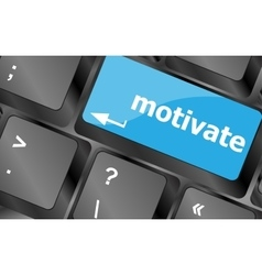 Computer keyboard - key motivate close-up vector