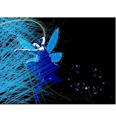 Abstract background with fairy fairy vector image vector image