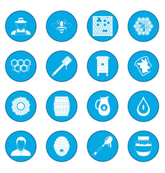 Apiary icon blue vector