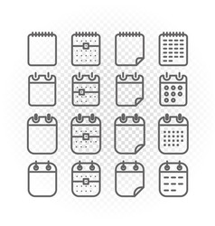 Binder silhouettes collection icons isolated on vector