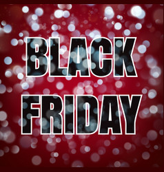 Black friday poster on dark blue background with vector