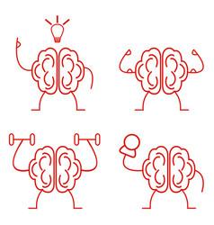 brain power set vector image vector image