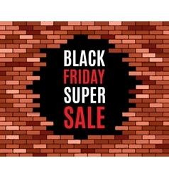 Broken brick wall vector image