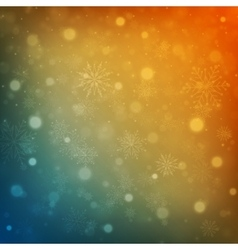 Christmas background snowflakes with lights vector image vector image