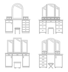 collection of dressing tables vector image