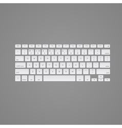 Computer keyboard isolated vector image vector image