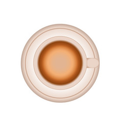 Cup coffee plate design vector