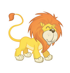 cute cartoon lion vector image vector image
