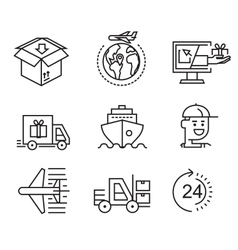 delivery flat icons vector image