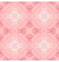 Elegant geometric background made of floral vector