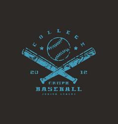 emblem of baseball championship vector image vector image