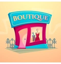 Facade fashion shop vector image vector image