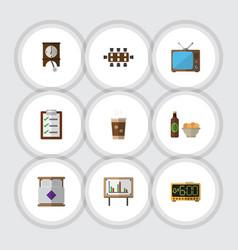 Flat icon oneday set of boardroom clock vector