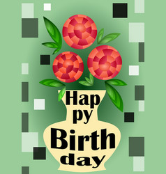 Futuristic modern happy birthday banner with vector