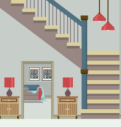 Hallway decoration vector