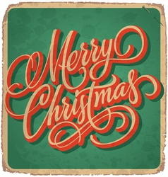 hand-lettered christmas card vector image vector image