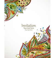 Invitation card with fashion beautiful pattern for vector