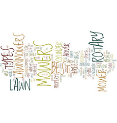 Lawn mowers text background word cloud concept vector