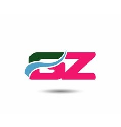 Letter g and z logo vector