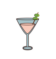 Martini cocktail glass icon image vector