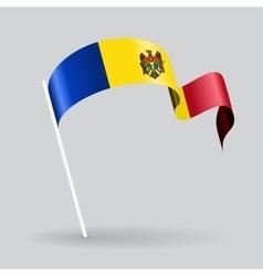Moldovan wavy flag vector image vector image
