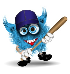 Monster baseball vector image
