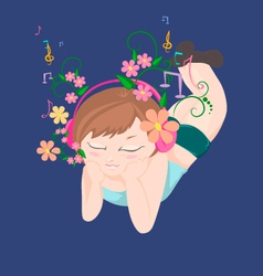 Music garden vector