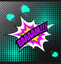 Pop art comic speech bubble bam vector