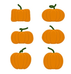 Set different pumpkins Vegetables for Halloween vector image vector image