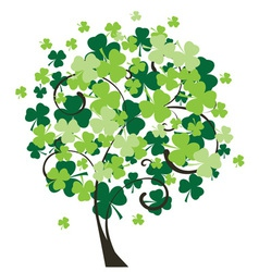 shamrock tree vector image