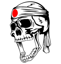 Skull with band vector