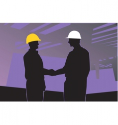 two engineers vector image vector image