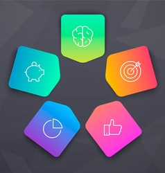 Vivid elements with seo icons vector