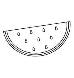 watermelon juicy fruit thin line vector image vector image