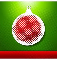 Christmas and new year holidays card with ball vector
