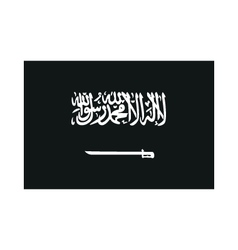 Flag of saudi arabia monochrome on white vector